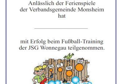 Ferienspiele-Event der JSG Wonnegau